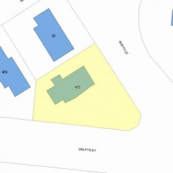 405 Crafts St, Newton, MA 02460 plot plan